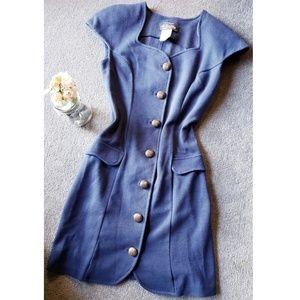 {HP} {Vtg} navy dress